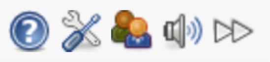 Esta es la barra de herramientas del usuario.